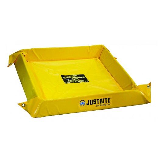 Piletas 28400 38 lts derrame Spill Berm antiderrames Justrite 965 x 102 x 914 mm