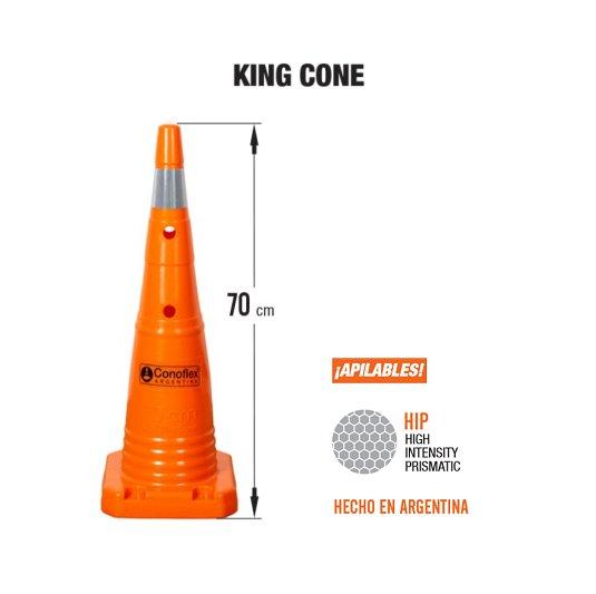 Conos viales 1570 King Cone CONOS DE SEÑALIZACION VIAL CONOFLEX
