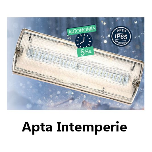 Luz de emergencia 2052LED PERMANENTE INTEMPERIE + LUZ DE EMERGENCIA 52W LED ATOMLUX