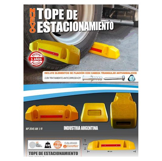 Tope de estacionamiento CONOFLEX MP 3045