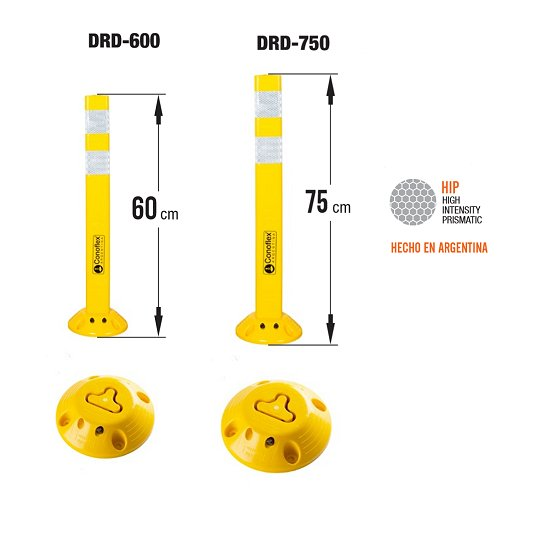 Delineadores desmontables rebatibles VIALES CONOFLEX DRD-600 DRD-750