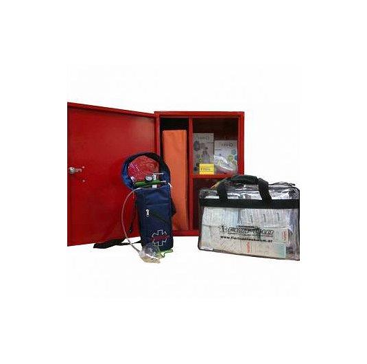 Mini estación 1ros auxilios completa estacion de primeros auxilios con gabinete
