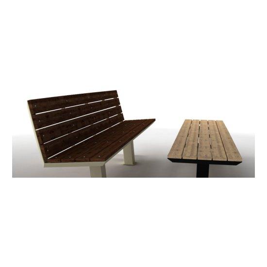 Bancos 3 cuerpos hierro y madera exterior con o sin respaldo SG-Malta