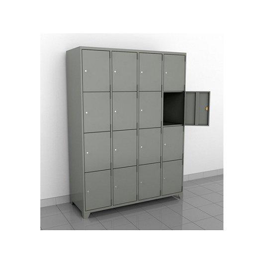 Locker metalico de 16  puertas anchas