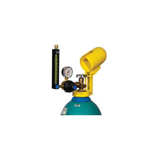 Bloqueador Valv Gas aluminio para válvula de cilindro de gas
