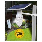 Luminaria Farola Solar 60 W LED Control Remoto ATOMLUX