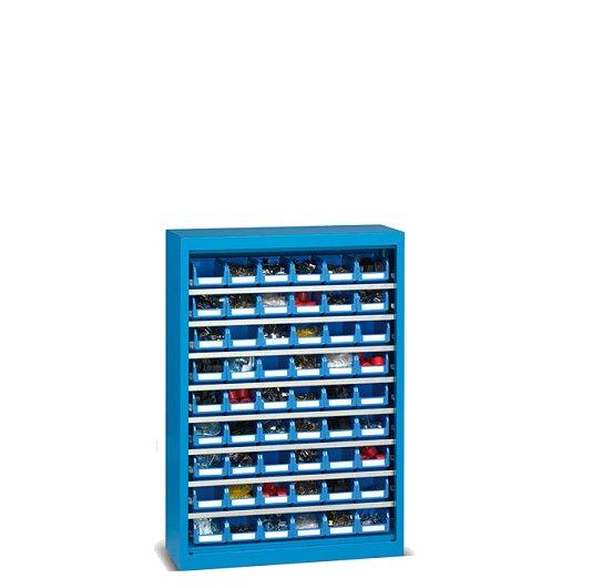 Armarios metálicos 1 mt 9 niveles contenedores plásticos portaherramientas