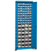 Armarios metálicos 2 mt 15 niveles contenedores plásticos portaherramientas