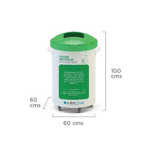 Contenedor de reciclado de 200 litros