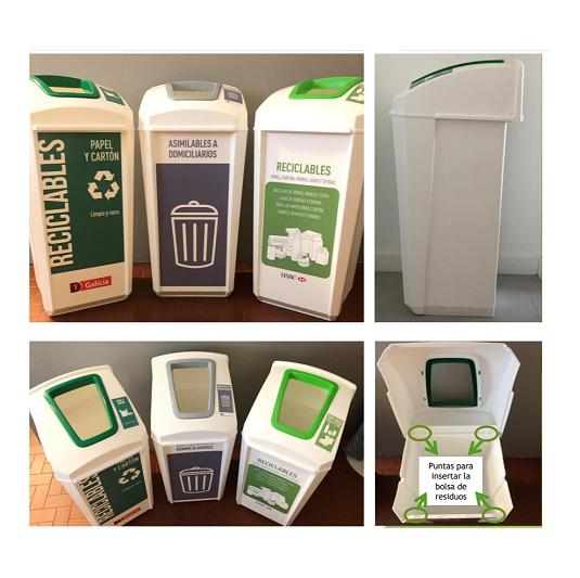 Contenedor de reciclado 50 lts inyectado