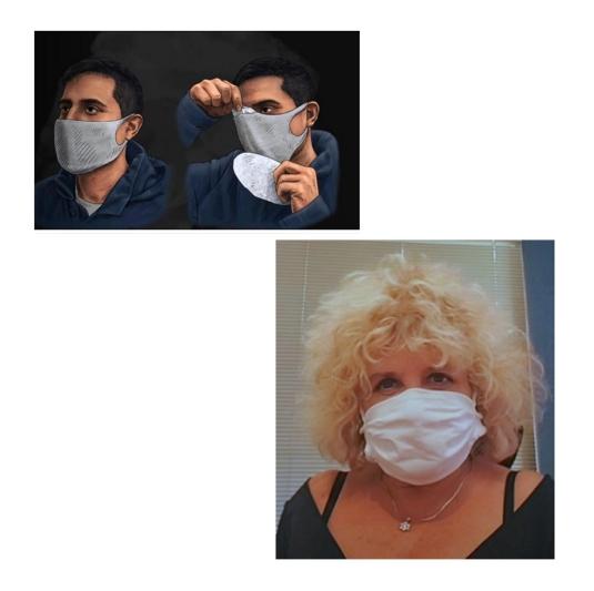 Barbijos Tapa bocas de protección social