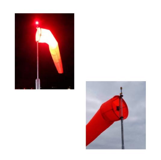 Manga para viento luz led interna