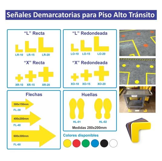 Señales Distanciamiento autoadhesivas para pisos